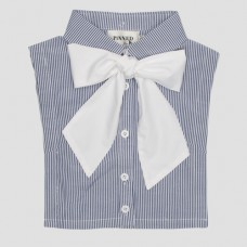 Collar stripe white Bowtie - 4918