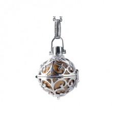 Hanger zilver met klankbol goud 16mm - 50118