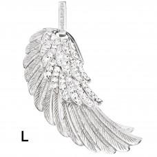 Hanger vleugel/zirconia zilver gerodineerd - 50130