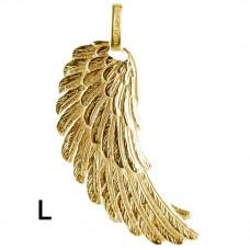 Hanger vleugel zilver geel verguld 45mm - 50129